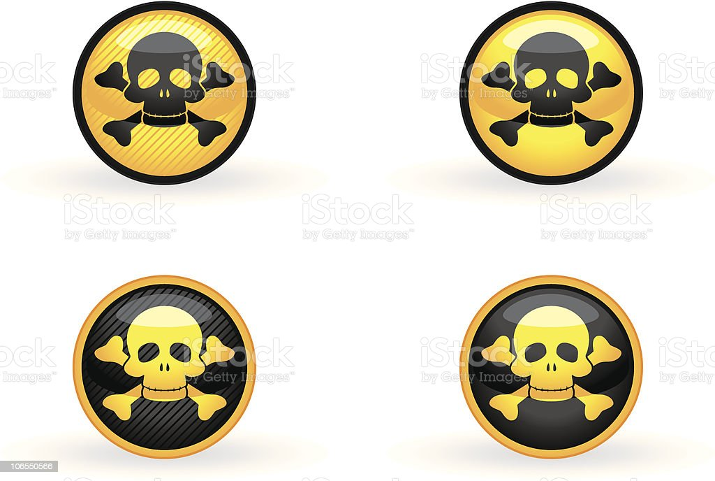 Simple poison button royalty-free stock vector art