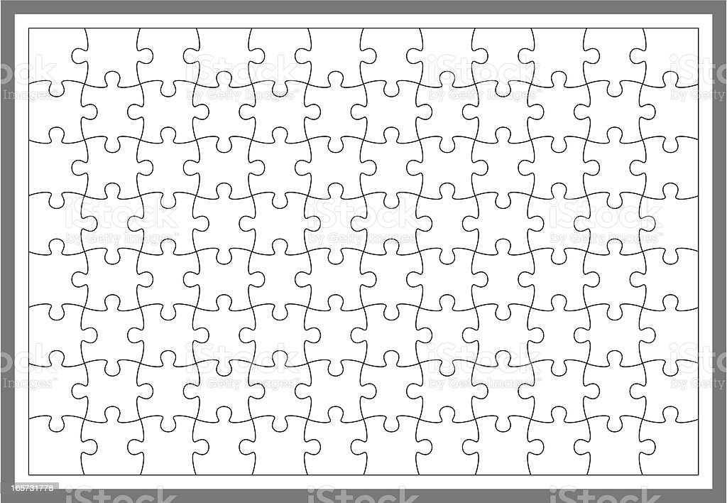 simple puzzle frame vector art illustration