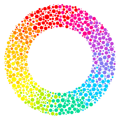 Simple rainbow dotted circle