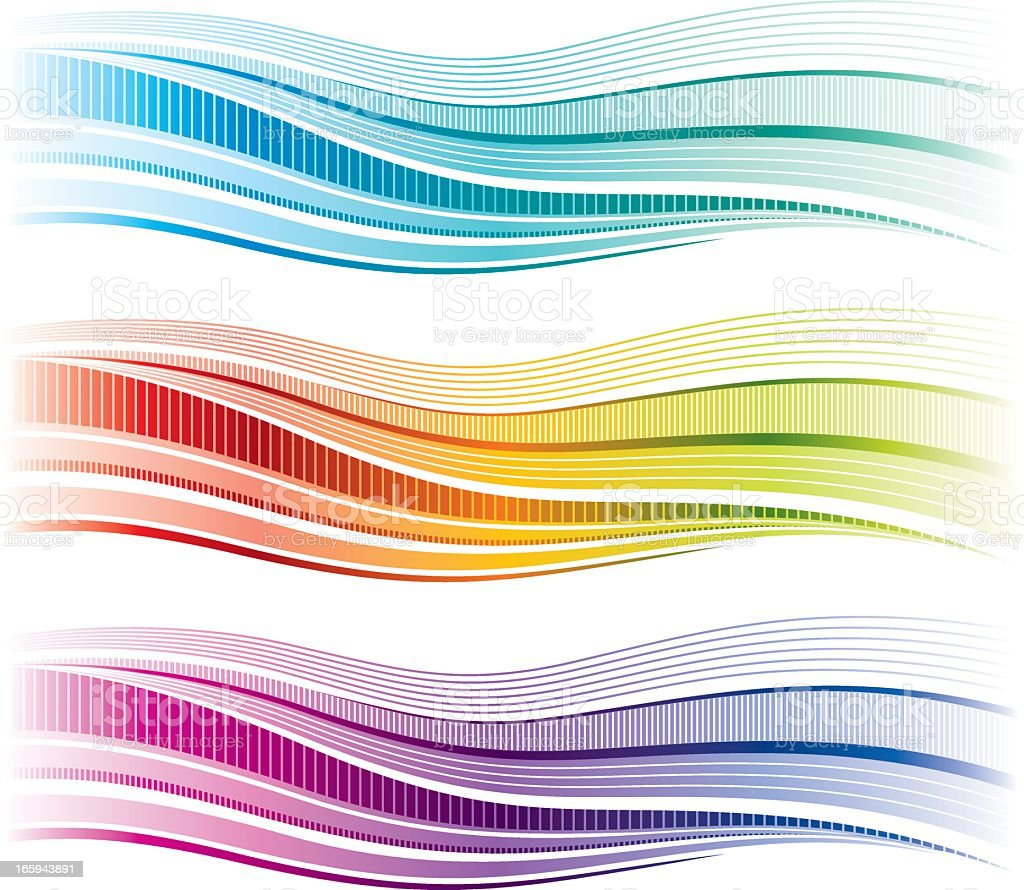 Simple rainbow wave royalty-free stock vector art