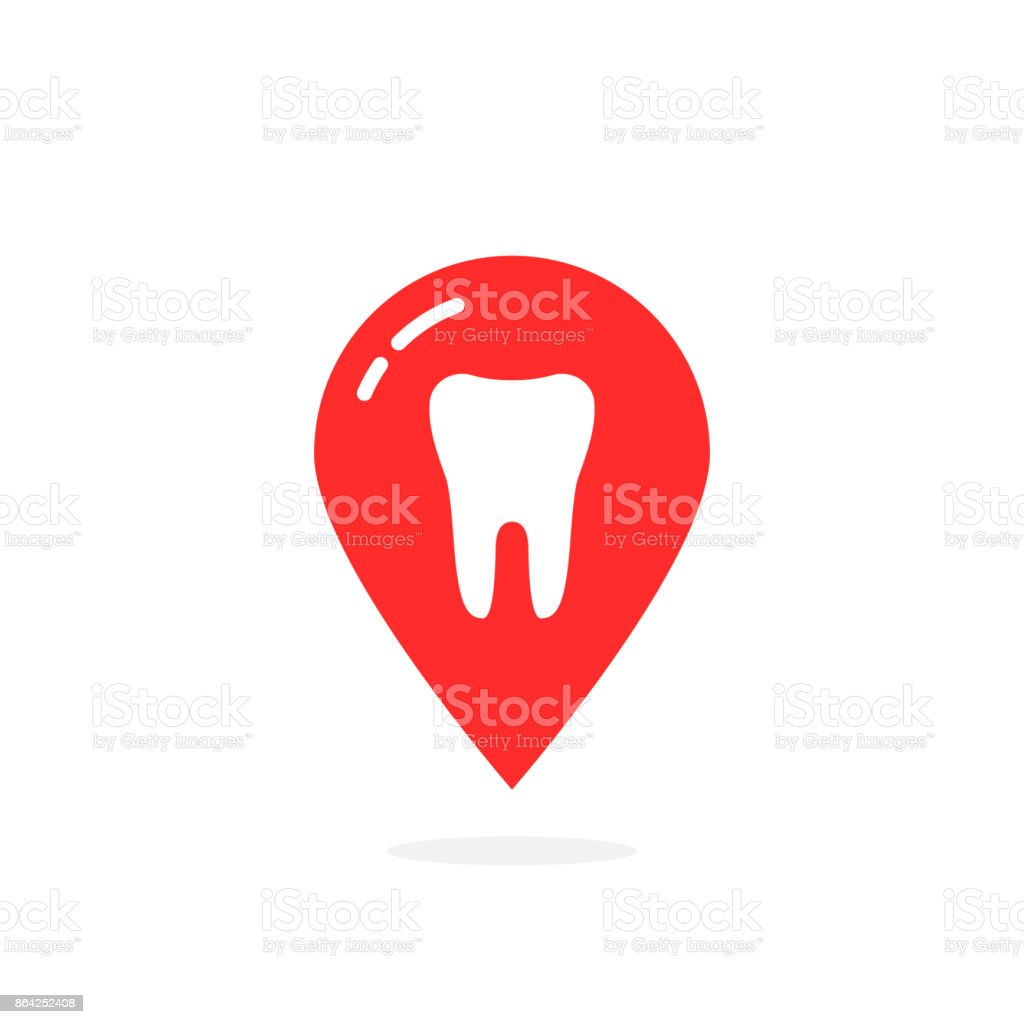 simple red icon of dental clinic isolated on white royalty-free simple red icon of dental clinic isolated on white stock vector art & more images of care