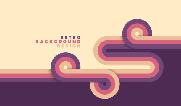 simple retro background design. - retro and vintage background stock illustrations