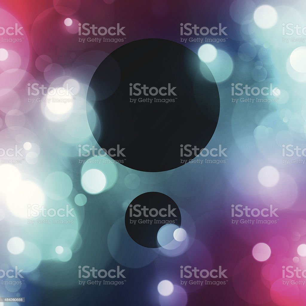 Simple Retro Layout Copy Space Between Blurry Light Spots Background royalty-free stock vector art