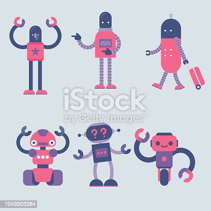 istock simple robot character set 1043503384