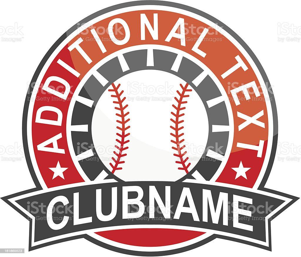 Simple Round Baseball Logo Royalty Free Stock Vector Art Amp