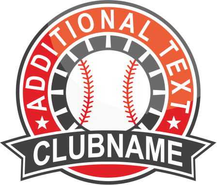 Simple round baseball logo