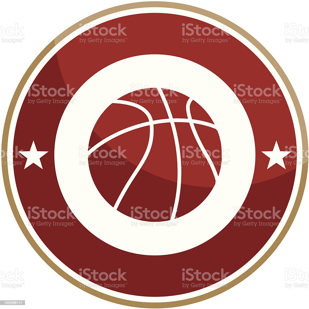 Simple round basketball emblem royalty-free stock vector art