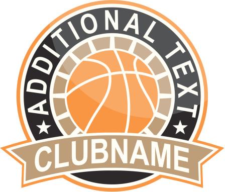 Simple round basketball logo