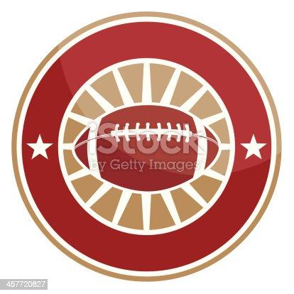 Simple round football logo
