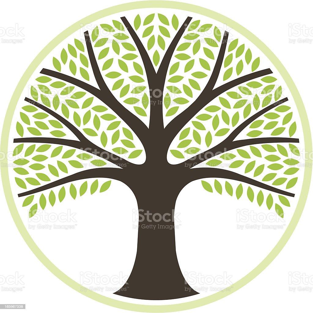 Simple round tree illustration royalty-free stock vector art
