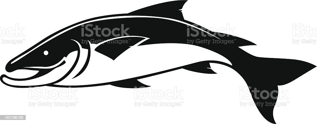 simple salmon royalty-free stock vector art