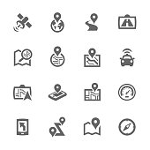 Simple Satellite Navigation Icons
