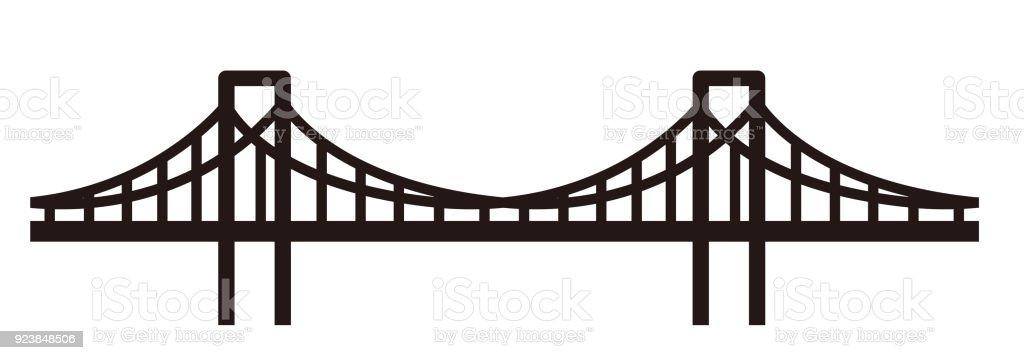 simple seamless bridge illustration vector art illustration