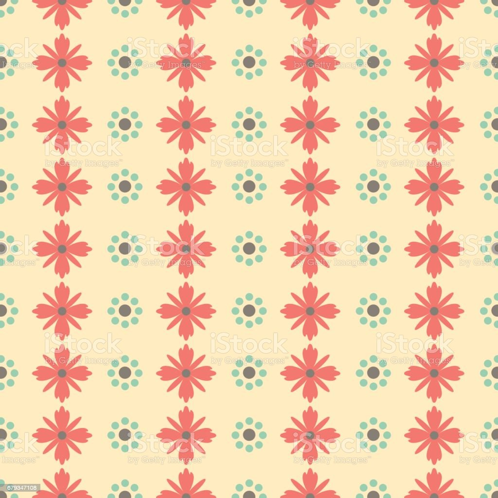 Simple seamless minimalistic floral pattern background vector royalty-free simple seamless minimalistic floral pattern background vector stock vector art & more images of antique