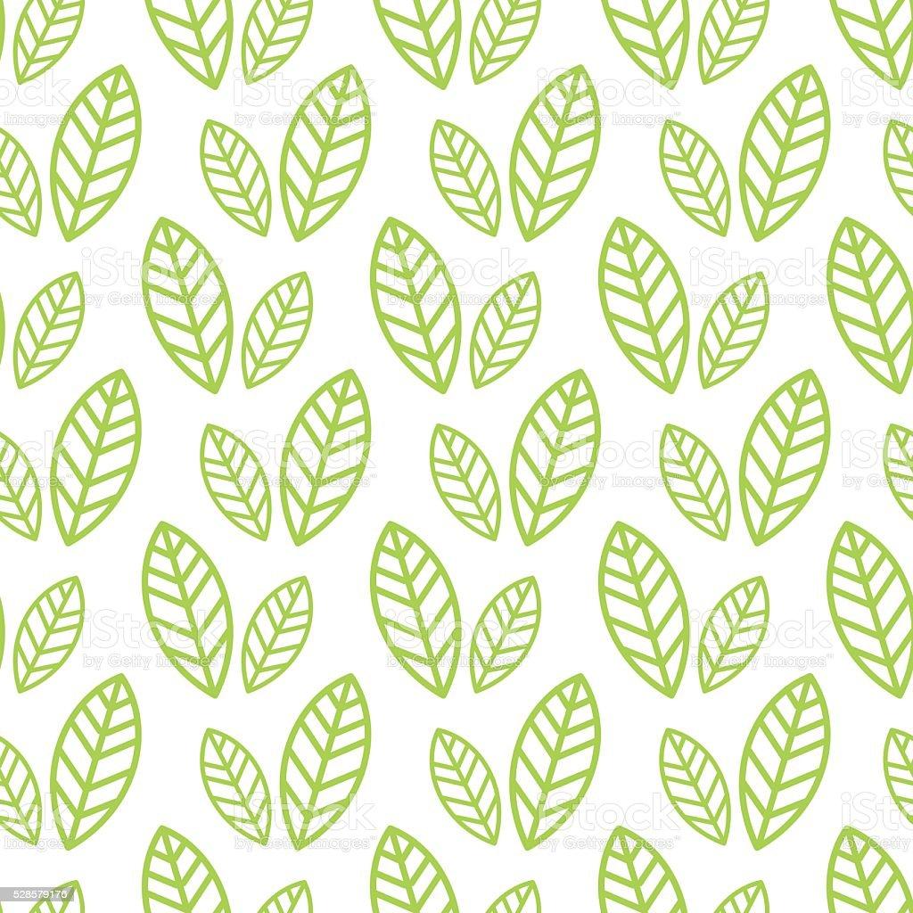 Bio Simple Sans Couture Papier Peint Avec Un Motif De Feuilles