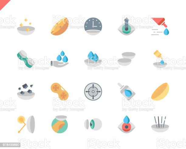 Simple set eye lens flat icons for website and mobile apps vector id978459892?b=1&k=6&m=978459892&s=612x612&h=l62mn7gecwc0yuj afafemuphe7by92fuoz0rwu0 0i=