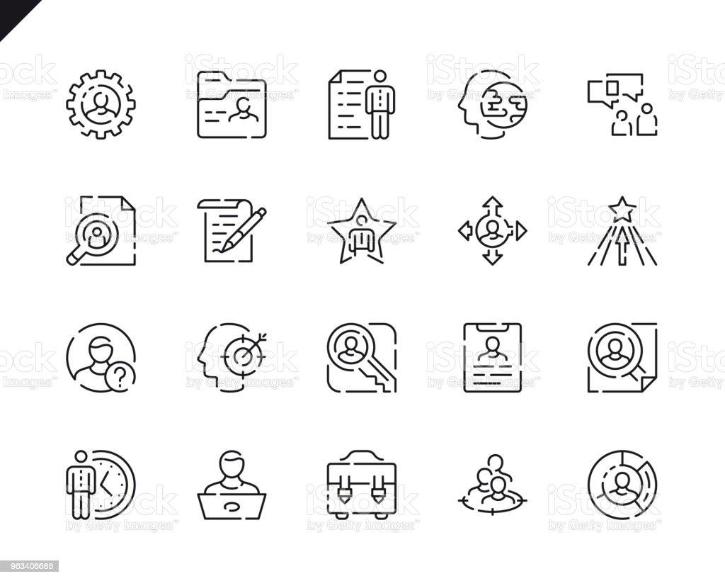 Simple Set Head Hunting Line Icons for Website and Mobile Apps. - Grafika wektorowa royalty-free (Biznes)