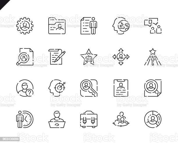 Proste Ikony Linii Polowania Na Głowę Dla Witryny I Aplikacji Mobilnych - Stockowe grafiki wektorowe i więcej obrazów Klucz