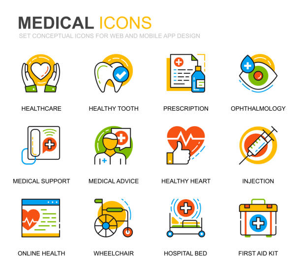 ilustrações de stock, clip art, desenhos animados e ícones de simple set healthcare and medical line icons for website and mobile apps. - diálise