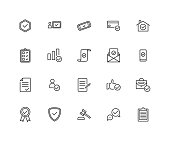 istock Simple Set of Approve Related Vector Line Icons. Contains such Icons as Protection Guarantee, Accepted Document, Quality Check and more. 1329171160