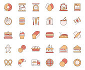 Simple Set of Bakery and Patisserie Related Vector Line Icons. Outline Symbol Collection.
