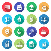 Simple Set of Beauty Related Vector Flat Icons. Symbol Collection.