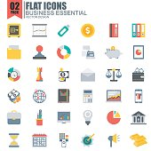 Simple set of business essential flat icons