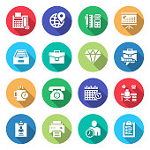 Simple Set of Business Essentials Related Vector Flat Icons. Symbol Collection.