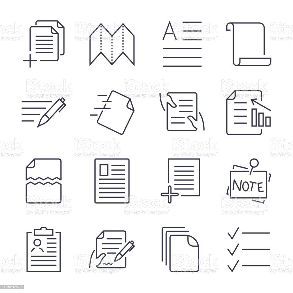 Simple Set Of Document Icons Contains Such Icons As Batch Processing - Simple legal documents