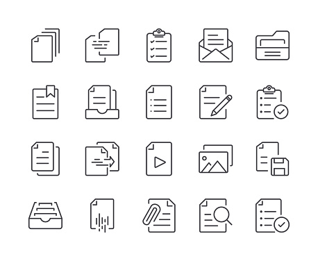 science and technology icons stock illustrations