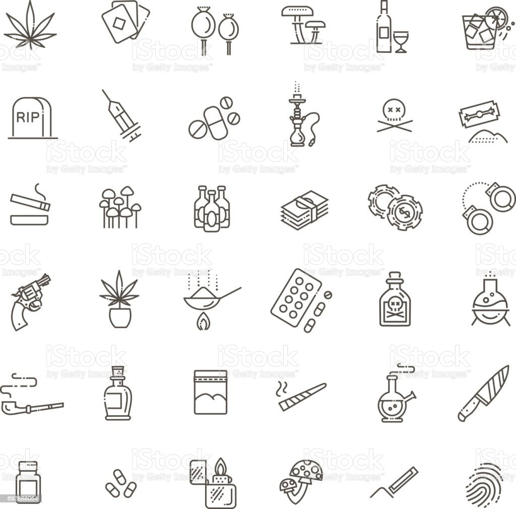 Simple Set of Drugs Related Vector Line Icons royalty-free simple set of drugs related vector line icons stock illustration - download image now