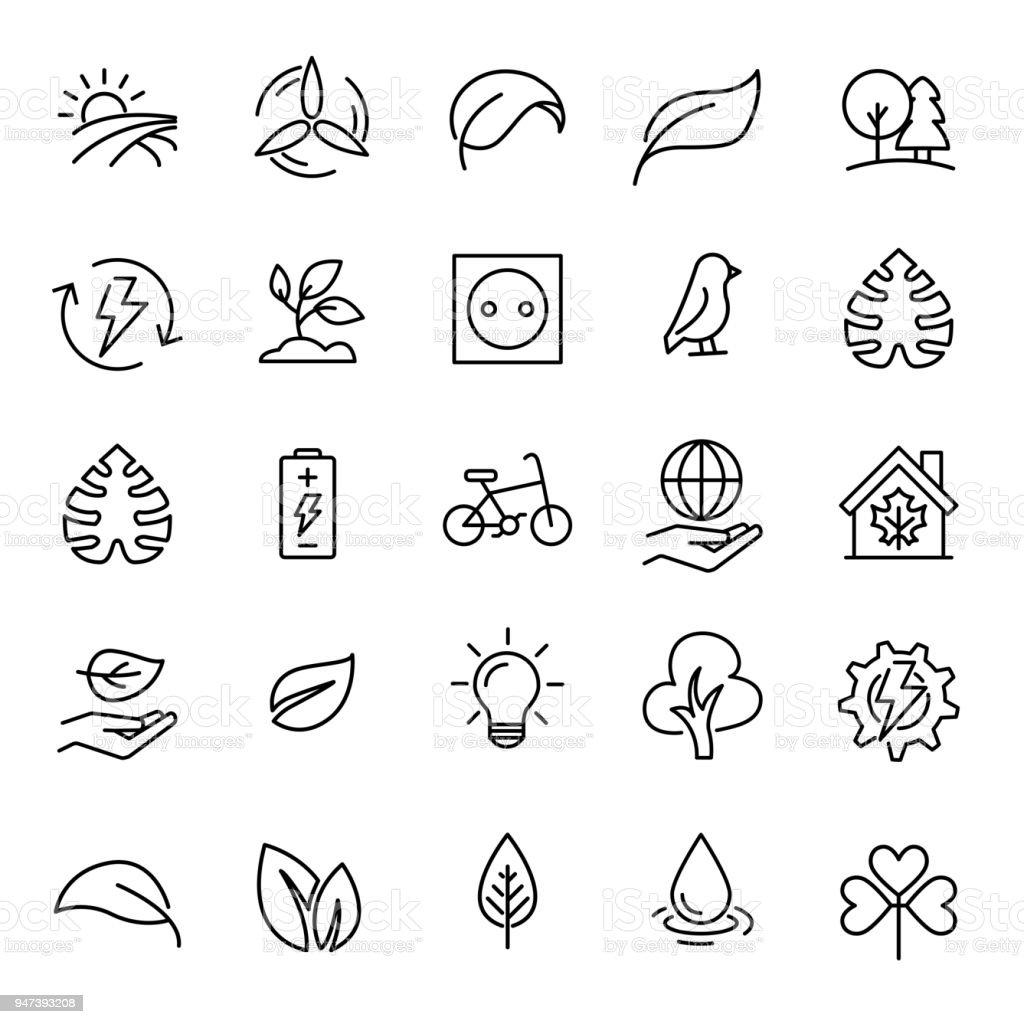 Einfachen Satz Der Ökologie Im Zusammenhang Mit Gliederung Symbole ...