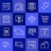 Simple Set of E-Commerce Related Vector Line Icons. Outline Symbol Collection