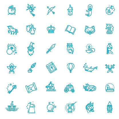 Simple Set of Fantasy Related Vector Line Icon