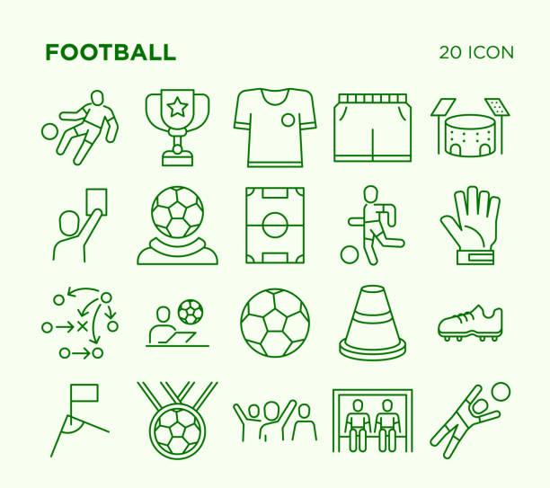 Einfachen Satz des Fußballs. – Vektorgrafik