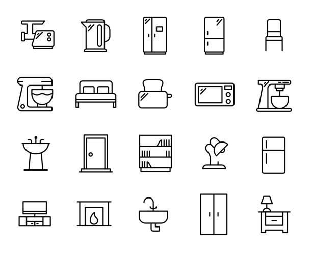 Royalty Free Kitchen Cabinet Door Clip Art, Vector Images