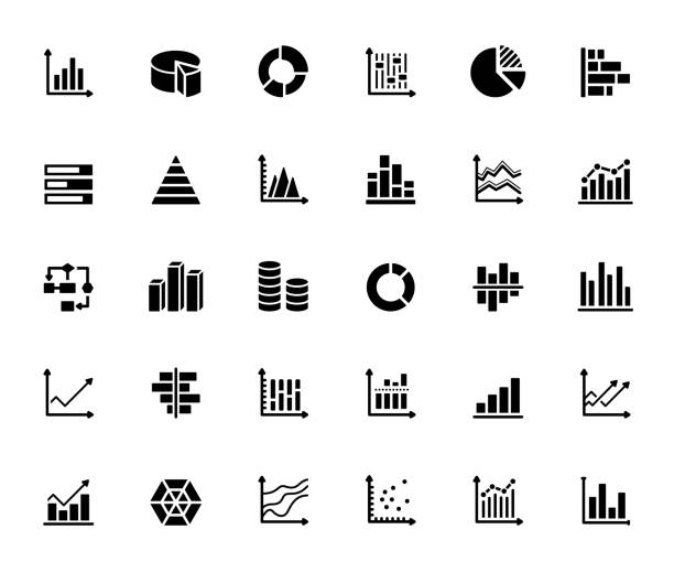 Simple Set of Graphs and Charts Related Vector Icons. Symbol Collection Simple Set of Graphs and Charts Related Vector Icons. Symbol Collection graph stock illustrations