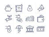 istock Simple Set of Investment Related Doodle Vector Line Icons 1222975085