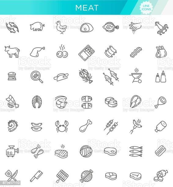 Simple set of meat related vector line icons vector id872917110?b=1&k=6&m=872917110&s=612x612&h=t3iclq fbfoypbjhvakxknlzb9gxsbnjmxbcwhtxdl0=