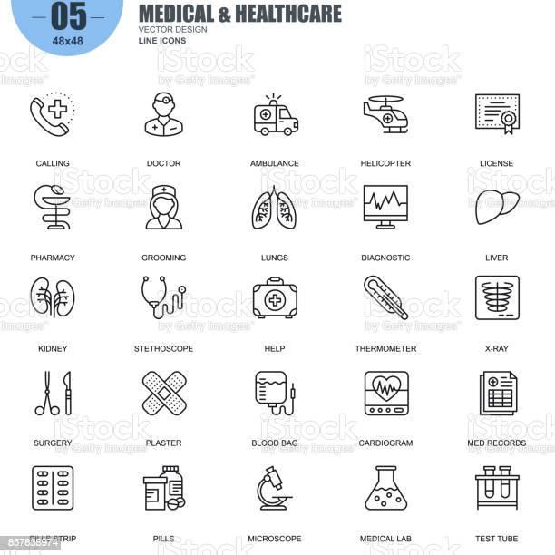 Simple set of medical and healthcare vector line icons vector id857838974?b=1&k=6&m=857838974&s=612x612&h=cfhvpwwwq5bxhtxjqarwv2yrdpcdd9criarexr du6w=