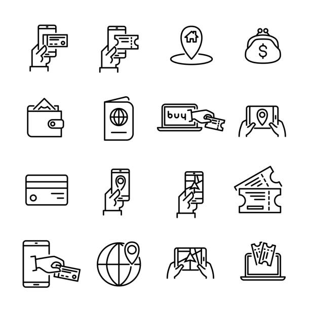 Simple set of online booking related outline icons. Simple set of online booking related outline icons. Elements for mobile concept and web apps. Thin line vector icons for website design and development, app development. Premium pack. wildlife reserve stock illustrations
