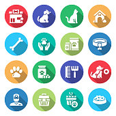 Simple Set of Pet Shop Related Vector Icons. Symbol Collection.