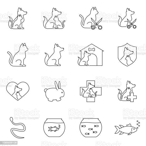 Simple set of pet vector line icons vector id1069938108?b=1&k=6&m=1069938108&s=612x612&h=k0k8 v2 rkmf7csp6ykrks v3cypbcmvvpm10px9a78=