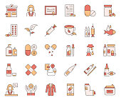 Simple Set of Pharmacy Related Vector Line Icons. Outline Symbol Collection.
