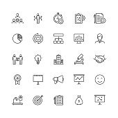 Simple Set of Product Management Related Vector Line Icons