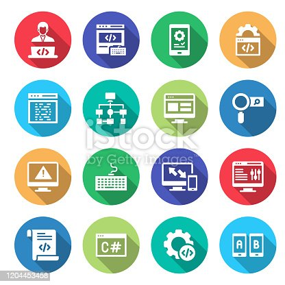 872677410 istock photo Simple Set of Programming Related Vector Icons. Symbol Collection. 1204453458