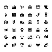 Simple Set of Shopping and Retail Related Vector Icons. Symbol Collection.