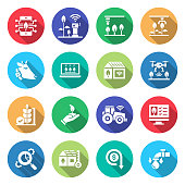 Simple Set of Smart Farm Related Vector Flat Icons. Symbol Collection.