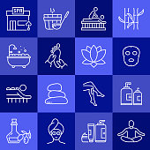 Simple Set of SPA Elements Related Vector Line Icons. Outline Symbol Collection.