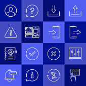 Simple Set of User Interface Related Vector Line Icons. Outline Symbol Collection